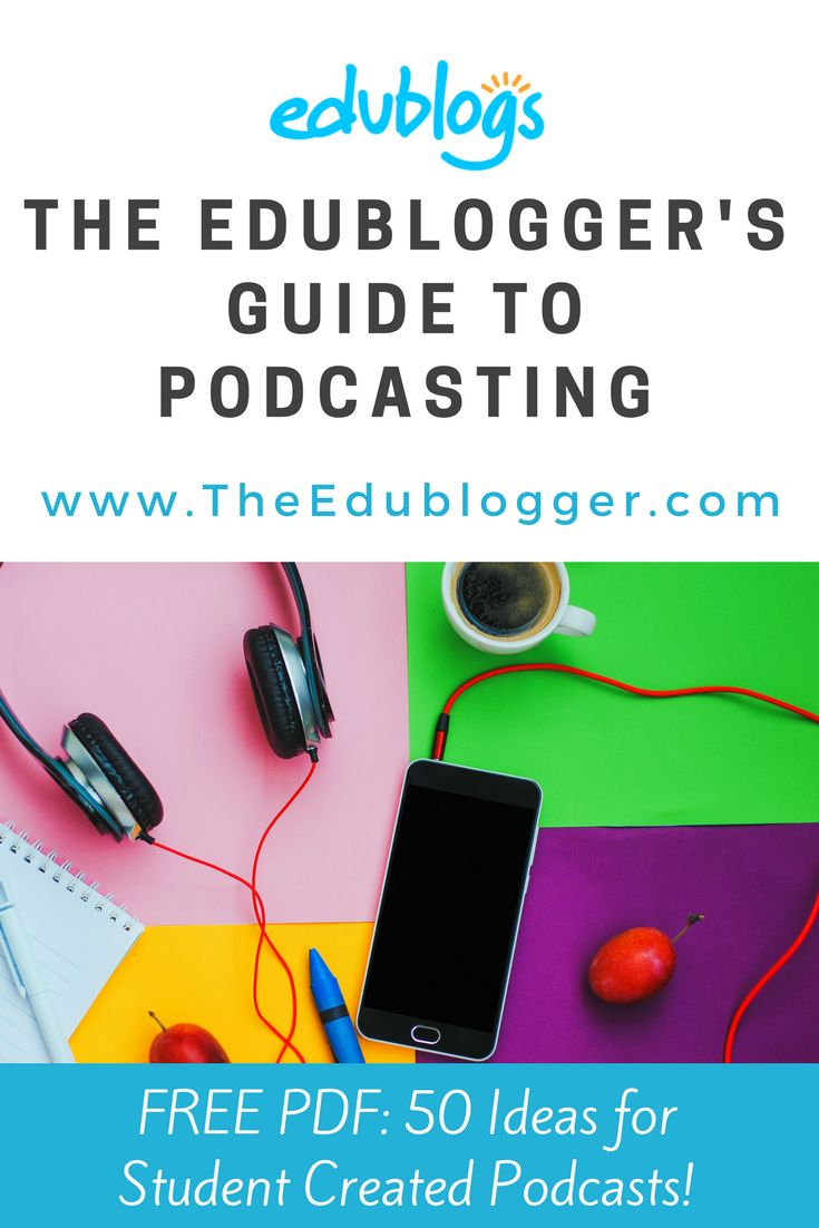 This guide helps teachers and students learn how to consume and create their own podcasts. We've also included a PDF with 50 ideas for student created podcasts.