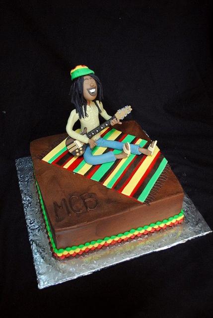 bob marley grooms cake by bluecakecompany, via Flickr