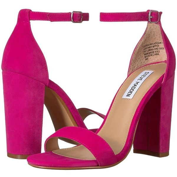 2ca2051a41f Steve Madden Carrson (Hot Pink) High Heels ( 90) ❤ liked on Polyvore  featuring shoes