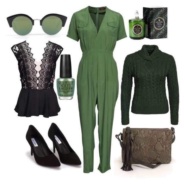 """G for green tuesday"" by kmk92 on Polyvore featuring Motel, OPI, Cheap Monday, Elise Ryan, Nly Shoes and Pieces"