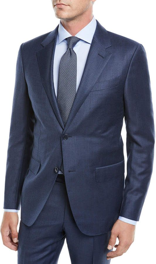 Ermenegildo Zegna Men s Solid Wool Two-Piece Suit  72287ee626e
