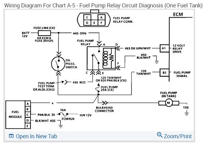 Pump Wiring Diagram How Can I Jump Around The Fuel Pump Relay In 2020 Relay Fuel Silverado