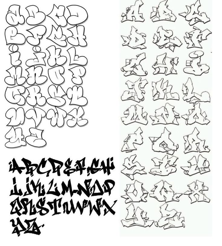 Cool elegant fonts cursive graffiti writing alphabet