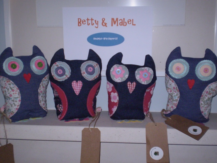 My Hand made owls will be on Folksy soon!