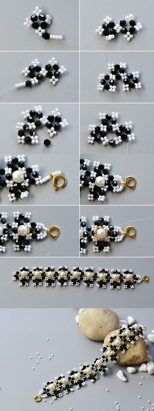 Like the white and black beads bracelet?The tutorial will be published by LC.Pandahall.com soon.