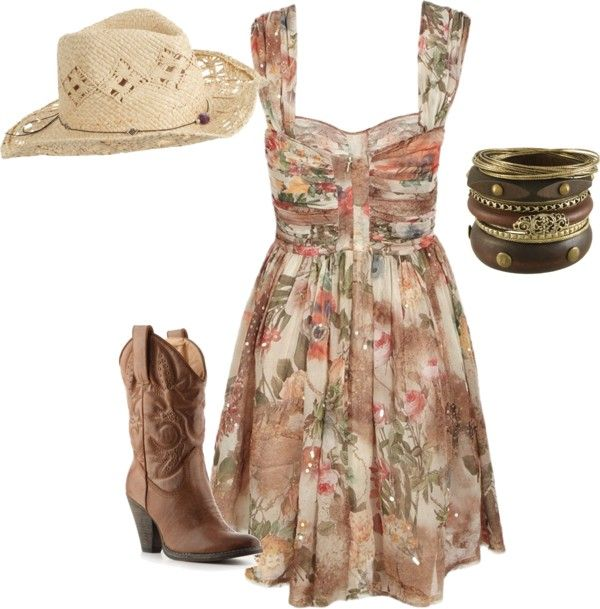 country girl: Cowgirl Boots, Concerts Outfits, Country Style, Country Girls Style, Cowboys Boots, The Dresses, Style Clothing, Summer Clothing, Country Girls Outfits