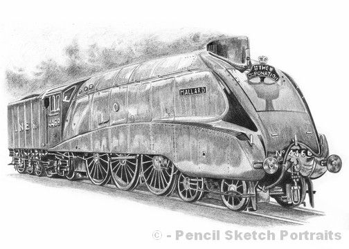 The mallard train steam engine drawings