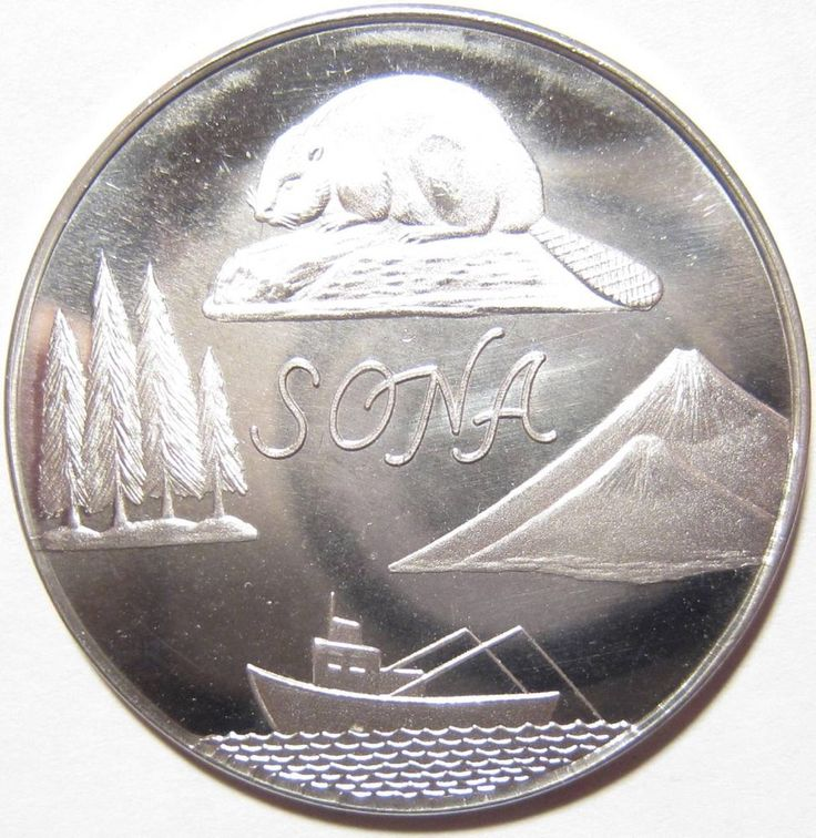 STERLING SILVER 1969 NUMISMATIC COIN CLUB ROSEBURG, OR SONA BEAVER MEDAL TOKEN