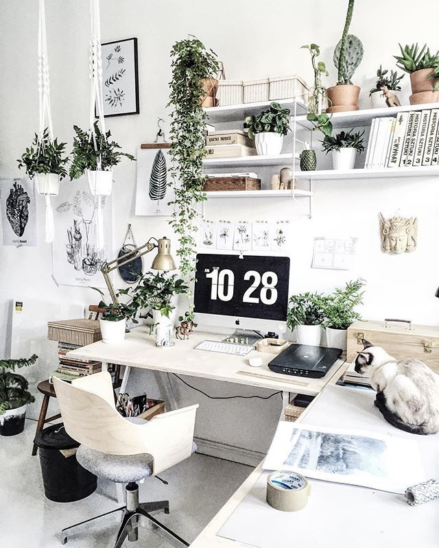 Pleasing Office Space Woth Lots Of Greenery Workspace Pla Download Free Architecture Designs Rallybritishbridgeorg