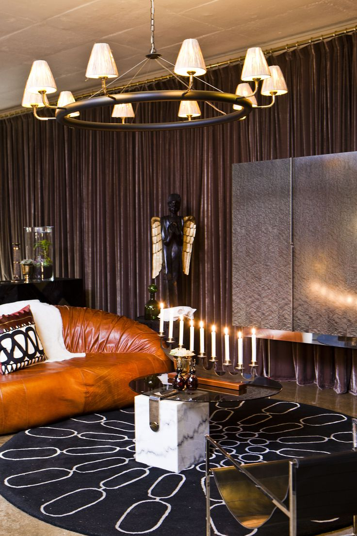 Kubu Chandelier styled with Paris sofa & other pieces from Egg Designs to create a Modernist African aesthetic.