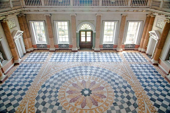 Wentworth Woodhouse Marble Hall - (1725 - 1768) designed by the talented local architect, John Carr of York.