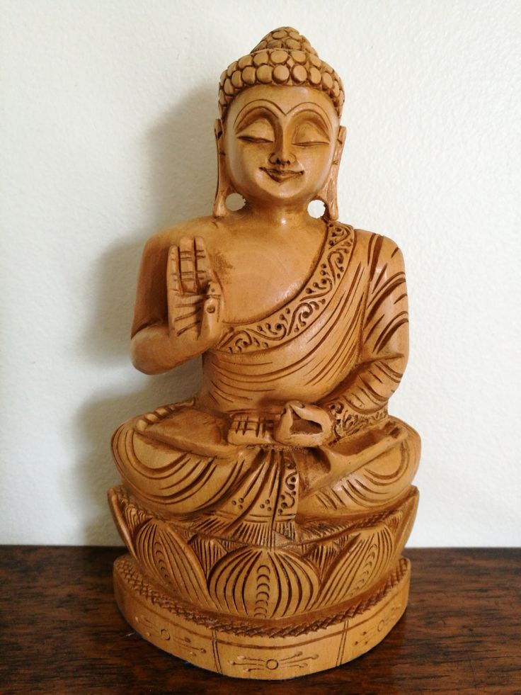 Fantastic Vintage Hand Carved Wooden Statue Of Buddha, Hand Carved Statue Of Buddha, Wooden Buddha Statue Seated In Meditation, by OnyxCollectables on Etsy