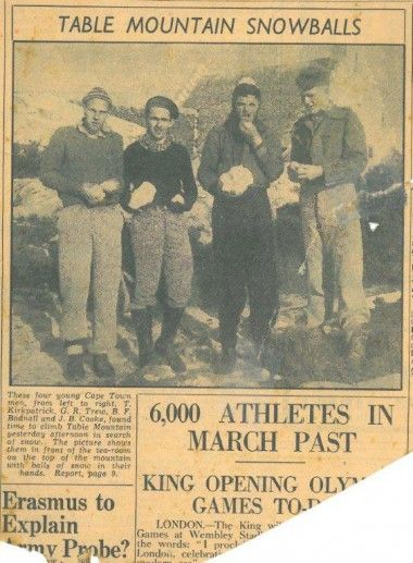 A newspaper clipping from 1948. if you look closely, underneath the photo you'll see an article about the