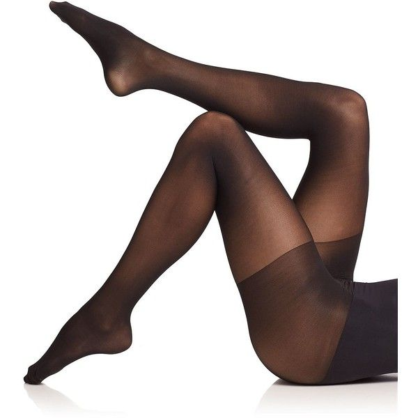 Commando Semi Opaque Control Tights ($36) ❤ liked on Polyvore featuring intimates, hosiery, tights, apparel & accessories, black, black stockings, black pantyhose, opaque hosiery, black tights and commando tights
