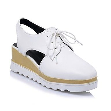 fef5891d798 Women s PU(Polyurethane) Spring   Summer Comfort Oxfords Creepers White    Black   Silver