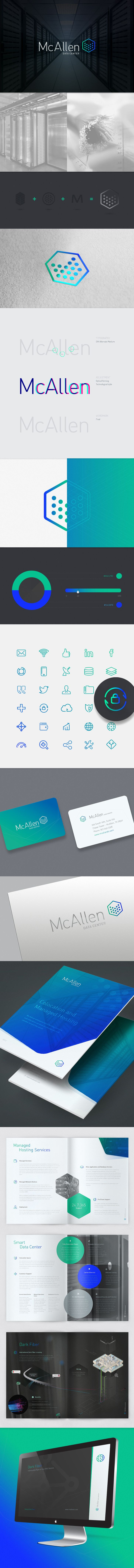 McAllen Data Center Branding  McAllen DC is a company that offers hosting service within their data center for telecom operators. Stands out for having an efficient infrastructure and be in the vanguard in technological issues. We developed a strong corporate brand, based on trust, stability and technological advances.