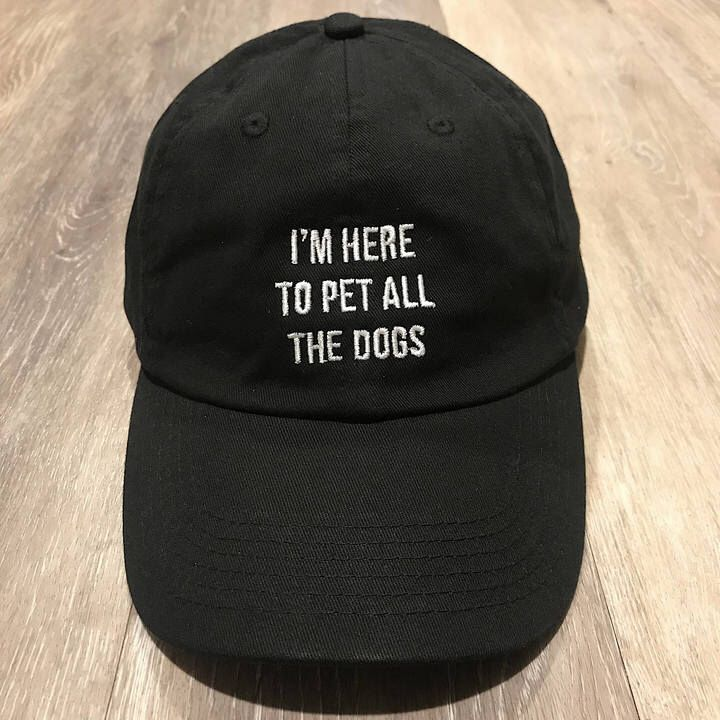 Etsy I'm Here To Pet All the Dogs.... Funny Dad Hat, One Size, Merlot, Pinot, Wine Lover, Holiday Gift  #reallife #affiliatelink #funnyfashion #myonlinedatingstrategy