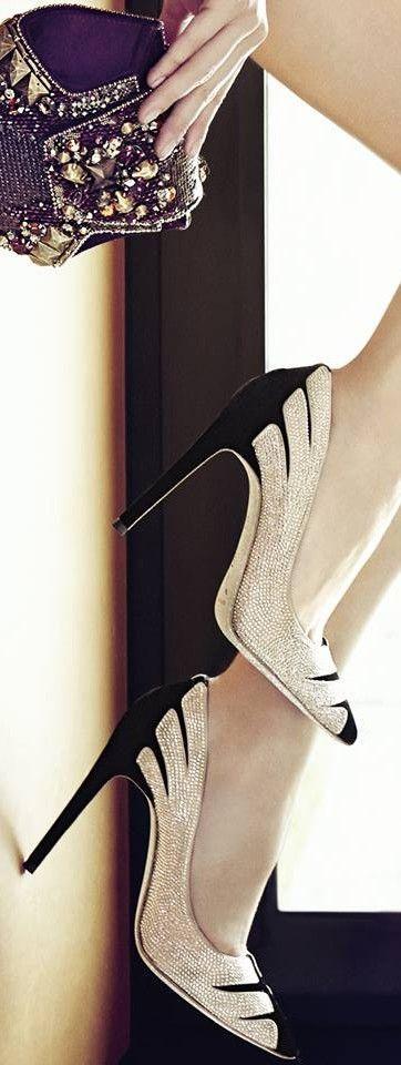 Oi amores! Sapatos que são uma verdadeiras jóias, a criatividade vem do designerRene Caovilla, um italiano em que, já fabricava sapatos de...