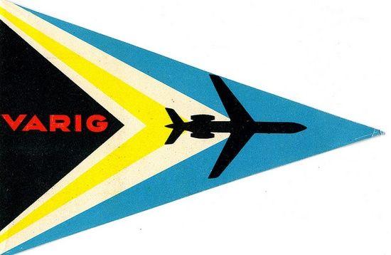 Varig luggage label - etiqueta de bagagem retrô #design #grafico