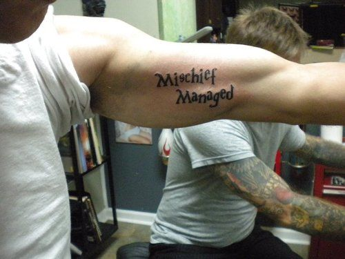 CosGeek: Gallery: More Harry Potter Quote Tattoos