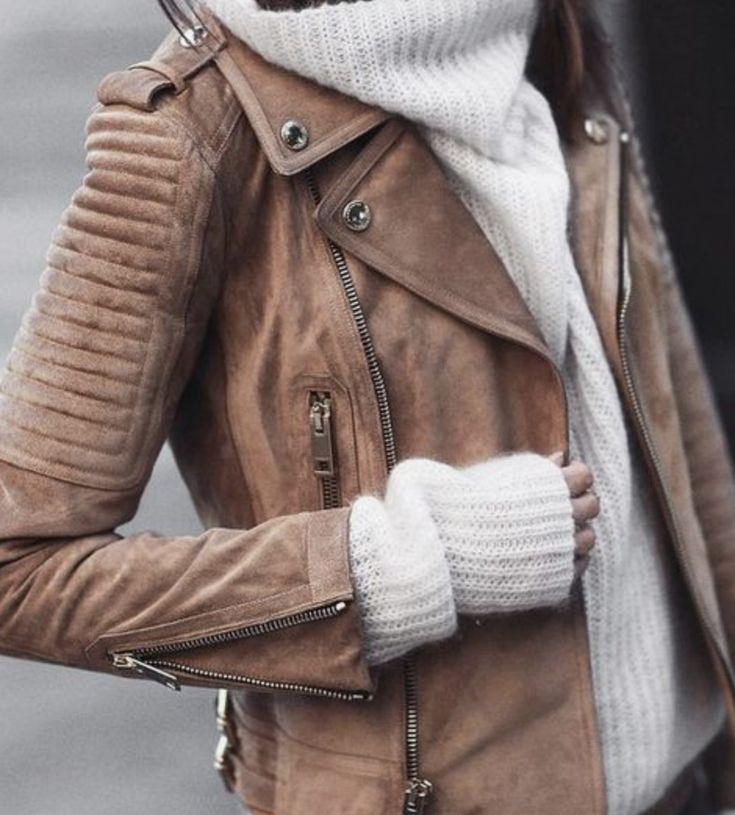 Jacket + Sweater combo. Soft vs. Hard look.