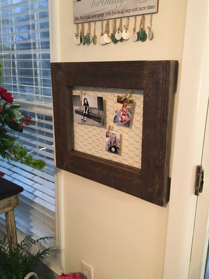 "Excited to share the latest addition to my #etsy shop: 16"" x 20"" Chicken Wire Picture Frame http://etsy.me/2F5LeAZ #housewares #homedecor #barnwood #reclaimedwood #homeliving #decor #rustic #antique #chickenwire"