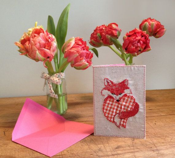 Embroidery Valentins card by BonitoFracaso on Etsy