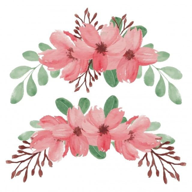 Hand Painted Spring Cherry Blossom Flower Arrangement Vintage Flower Illustration Png And Vector With Transparent Background For Free Download In 2020 Flower Illustration Cherry Blossom Vector Watercolor Flowers