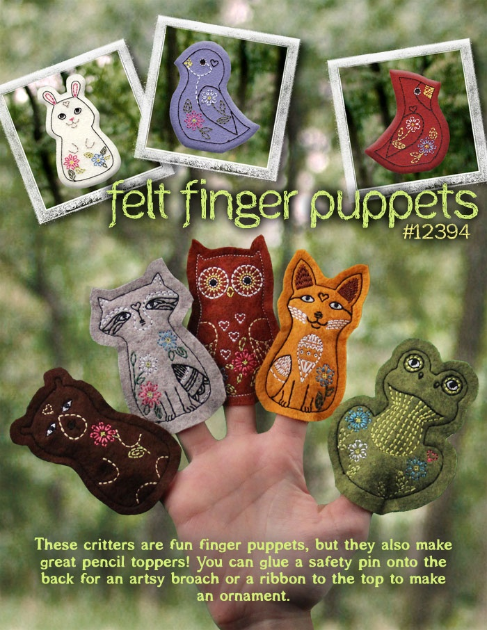 Cute finger puppets!