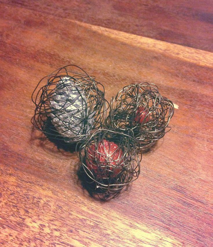 Handmade Christmas balls.