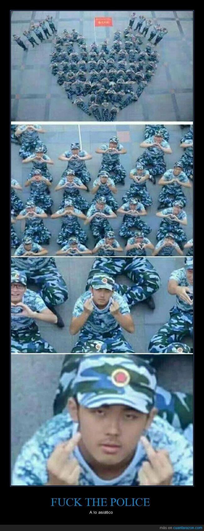 FU*K THE POLICE - A lo asiático   Gracias a http://www.cuantarazon.com/   Si quieres leer la noticia completa visita: http://www.estoy-aburrido.com/fuk-the-police-a-lo-asiatico/