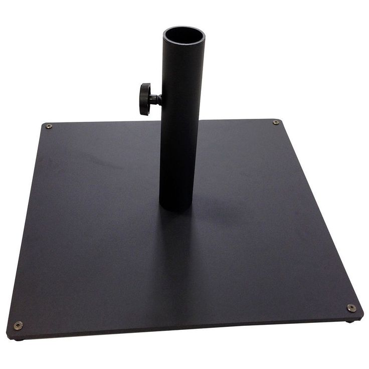Outdoor Umbrella Stand Black Patio Base Square Table Deck Pool Steel Heavy Duty #TropiShade