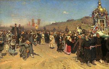 Easter Procession in the District of Kursk (Крестный ход в Курской губернии) Ilya Repin