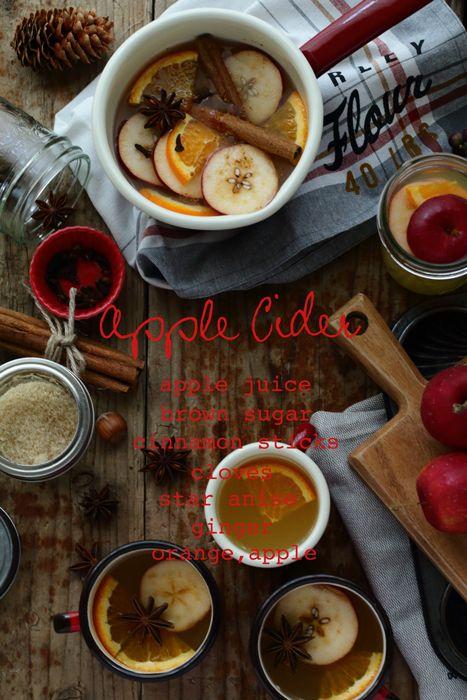 11月のフォトレッスンのつづきりんごはそのままでも完璧なかわいさ~~!シナモン好きにはこんなドリンクってクローブ、ジンジャー、スターアニス、シナモンすこし~ス…