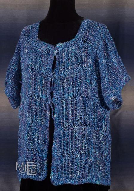 Cotton String Cardigan open gauzy summer weight top by Marcella Edmund