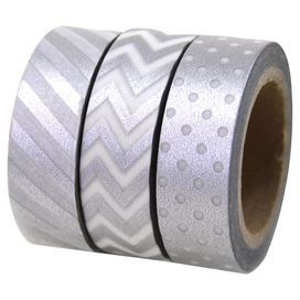 Melissa Washi Tape in Silver  $13.95
