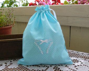 Novia de novia regalo, bolsa de ropa interior, regalo, regalo para novia, turquesa, bolsa de ropa interior, 30 cm x 23 cm