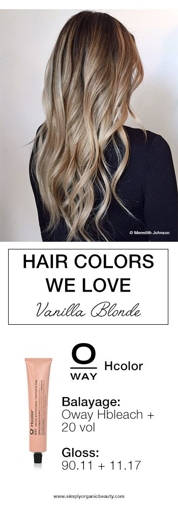 THIS! Vanilla Blonde Hair Color with Oway Hcolor and Hbleach by Meredith Johnson of Abloom Salon. #Oway #Hcolor #BlondeHairColor