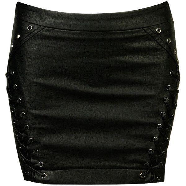 Boudoir Leatherette Skirt ($11) ❤ liked on Polyvore featuring skirts, bottoms, saias, black, women, sexy skirt, transparent skirt, forever 21, see through skirt and sheer skirt