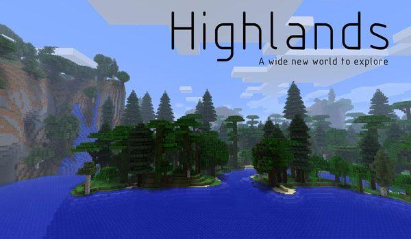 Highlands Mod 1.7.2/1.6.4 - http://www.minecraftjunky.com/highlands-mod-1-7-21-6-4/