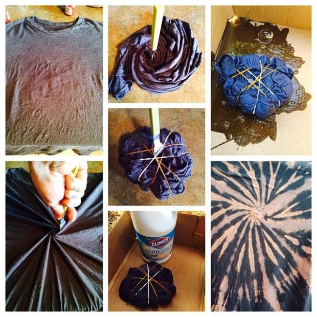 Easy Reverse Tie-Dye DIY using BLEACH! So fun!