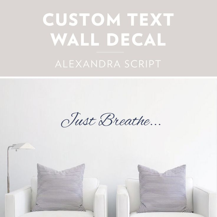 Alexandra Script -Custom Text Wall Decal, Custom Wall Sticker, Custom Decal Sticker, Custom Text Art, Personalized Wall Decor, Cursive Decal by WallumsWallDecals on Etsy https://www.etsy.com/listing/198427964/alexandra-script-custom-text-wall-decal