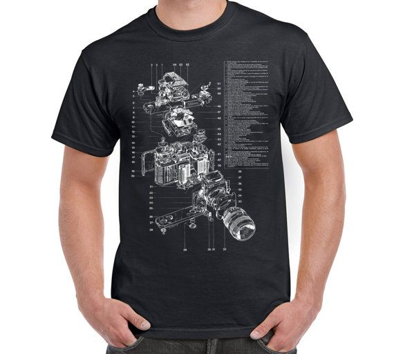 Camera Anatomy T Shirt Camera Digital Camera by FreakyTshirtShop