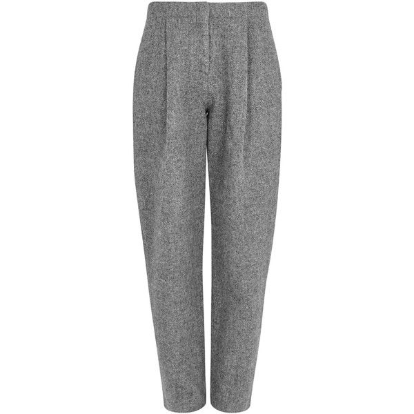Acne Studios Selah grey Harris tweed trousers (€565) ❤ liked on Polyvore featuring pants, grey trousers, gray trousers, acne studios, harris tweed pants and gray pants