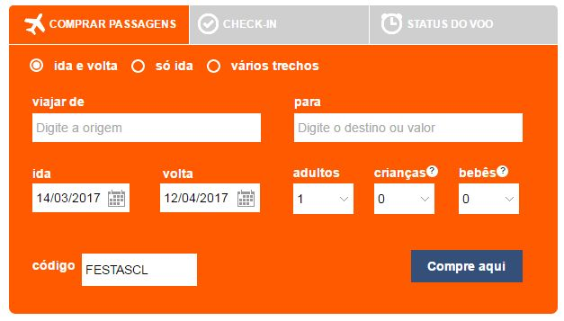 GOL oferece 20% desconto nas passagens aéreas para Santiago