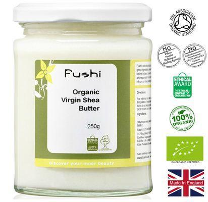 Organic Brands | Fushi - 100% Οργανικό Παρθένο Βούτυρο Καριτέ 250gr