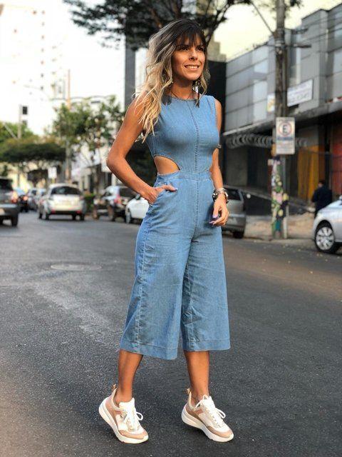 Macaquinho Pantacourt Jeans