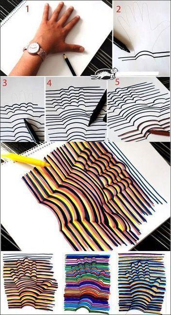 рисунок с оптической иллюзией