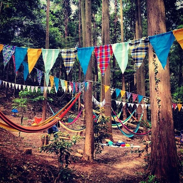 Camping for the wedding sounds like a magical idea
