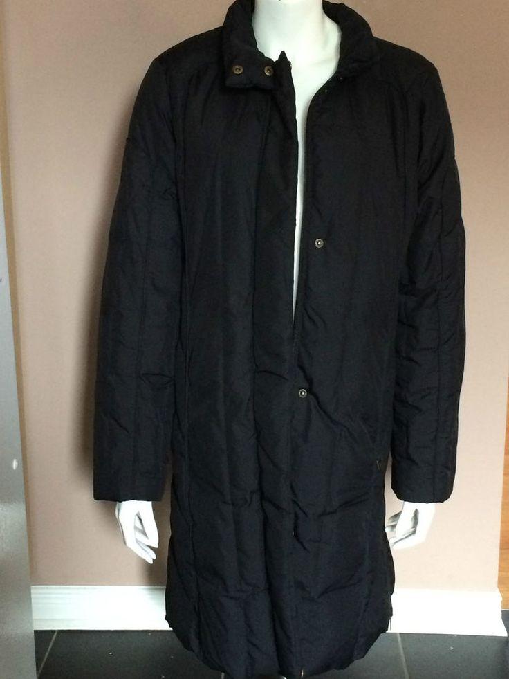 Winter Coat Perry Ellis Women Black Puff Long Winter Coat Size Large